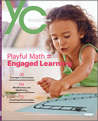 Cover of summer 2017 issue of Young Children.