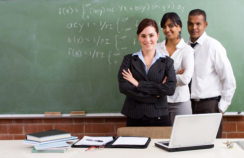 stock photo - teachers in classroom